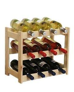 Weinregal Weinregal Holz Flaschenregal für 12 Flaschen RW-1-12