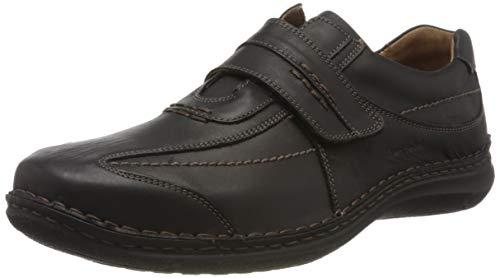 Josef Seibel Alec Herren Low-Top Sneaker   Comfort Schuhe aus Nappaleder -Schwarz (600 schwarz),39 EU -