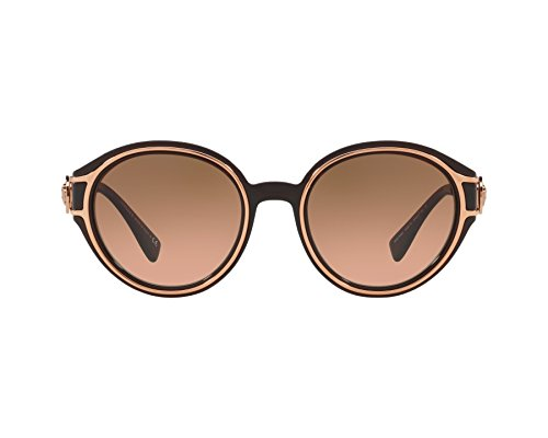 Versace Damen 0VE4342 509318 53 Sonnenbrille, Braun (Transparent Brown/Pink Gold/Orangegradientlightgrey)