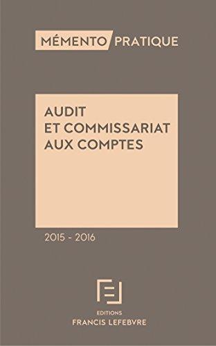 Mémento Audit et commissariat aux comptes 2015-2016
