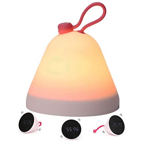Lichtwecker, Excelvan Nachtlicht baby, gute Lichtintensität für Kinder, Wetterstation mit Wecker, Temperatur, Feuchtigkeit, Wake Up Licht, Geschenk für Frauen
