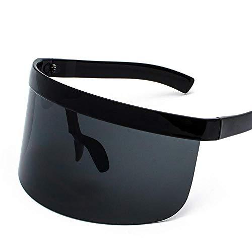 MACUH Home Herren-Sonnenbrillen Damen Großer Rahmen Sonnenschutz-Peeping-Hut-Brille All-in-one persönliche Gesichtsmaske Sonnenbrillen-Modetrends