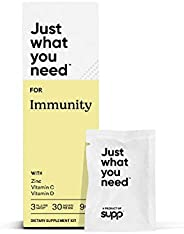Supp Nutrition Immunity Pack - Vitamin C (1000mg), Vitamin D (2000IU) & Zinc (35mg) to Recharge, Recover &