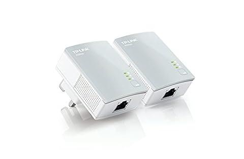 TP-Link 600 Mbps Nano Powerline Adapter Starter Kit, No Configuration Required, UK Plug (TL-PA4010KIT V1.20) - Pack of 2