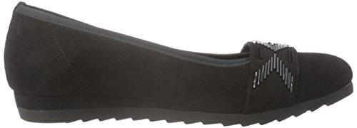 Gabor Shoes Comfort Sport, Ballerine Donna Nero (Schwarz 47)
