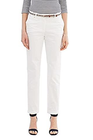 ESPRIT Collection 037eo1b001, Pantalon Femme, Blanc (Off White), 38 /L32 (Taille Fabricant: 38)