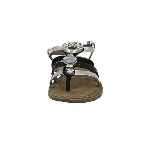 Lazamani 75310 Damen Sandalette bis 30mm Absatz Schwarz (Schwarz)