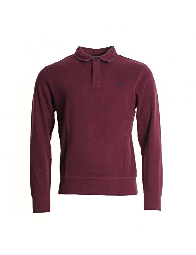 GANT Sacker Rippe 2 Knopf Herren Pullover Port Red