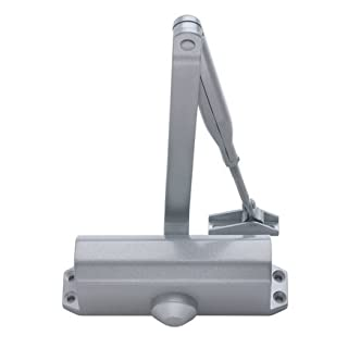 Supreme Size 3 CE Door Closer 1h Fire Rated - Silver for upto 60kg Door