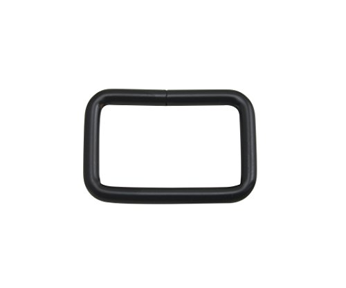 Wuuuycoky schwarze rechteckige Schnalle, nicht geschweißt, für Gürtel, Schwarz , Inner length:1.25