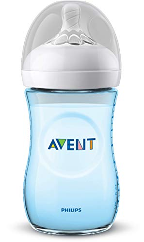 Philips SCF035/17 Avent Biberon Natural Anti-Colica, 260 ml, Azzurro