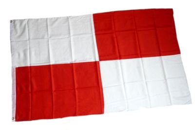 Fahne / Flagge Karo rot / weiß groß NEU 90 x 150 cm