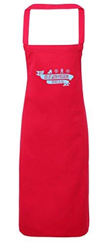 King Kostüm Diy Ice (hippowarehouse Eislaufen, Do it mit Leidenschaft oder nicht bei allen Schürze Küche Kochen Malerei DIY Einheitsgröße Erwachsene, fuchsia pink,)