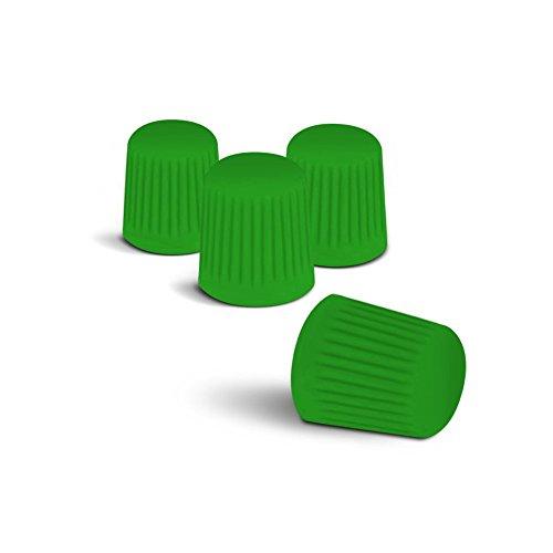 Preisvergleich Produktbild Farbige Ventilkappen (Grün) passend für alle PKW. Ein Highlight für jede Radkappe oder Radzierblende!