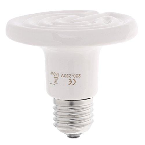 Homyl E27 Wärmelampe Keramik Infrarot-Wärmestrahler Infrarotlampe Heizstrahler Heizung Glühbirne für Reptilien - 150W