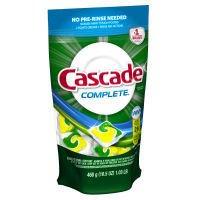 Cascade Complete Dishwasher Detergent Pacs Lemon Burst - 26 CT