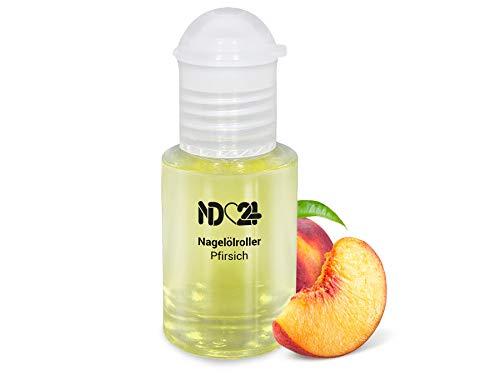 Nagelölroller Pfirsich - 6ml - als praktischer Roller - Nagelhaut-Öl Nagelpflege-Öl Nagelhautpflege-Öl