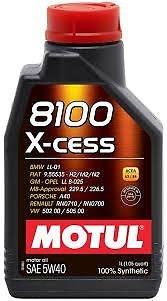 OLIO MOTUL 8100 X-CESS 5W40 100% SINTETICO / 1 LITRO