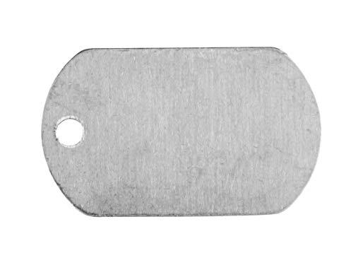 Impressart blanko Anhänger aus Aluminium zum Stanzen oder herstellen von Schmuck, Dog Tag 31.8mm | x16 -