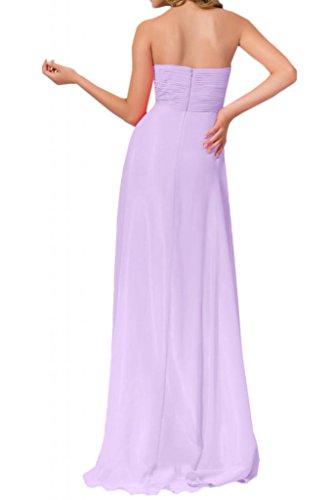Toscana sposa sweet Heart Chiffon stanotte vestiti a forma di cuore per sposa lontano dalla giovane donna moda un'ampia party vestimento Lilla