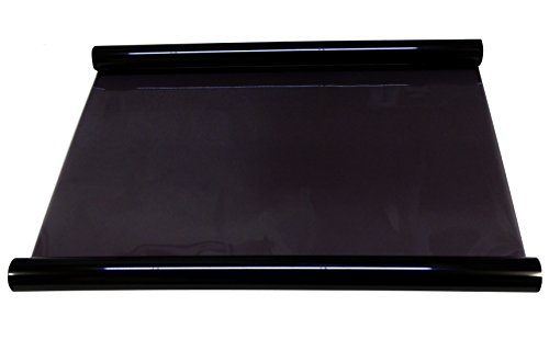 AERZETIX: Pelicula lamina para proteccion ventanas de coche Light BLACK 25% 3 metros 75cm Color: negro
