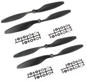 REES52 2 Sets Carbon Nylon 10X4.5 Inch 1045 / R CW CCW Propeller, Multi-Copter Clockwise Rotating/Counter(Black)