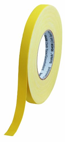 Scotch 9545N Y15 Gewebeband 15 mm x 50 m, 1 Rolle, gelb
