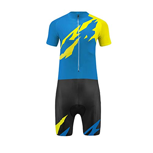 Uglyfrog Radtrikot Skinsuit Herren Kurzarm, Fahrradbekleidung Set Herren Trikot Kurzarm + Kurze Beine mit Sitzpolster Sports Wear
