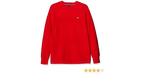Size:6 Deep Crimson 106-880 XNL Tommy Hilfiger Boys Essential Hoodie Red 6-7 Years