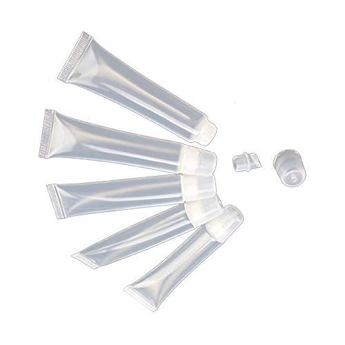 Ruiting 10Stk Leere Tubes 15ml Klare kosmetische Behälter nachfüllbar Plastikschläuche für DIY Lipgloss Schlauch Beauty Misc