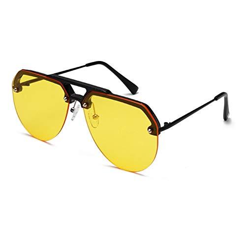 FIRM-CASE Mode Semi Randlos Pilot Red-Sonnenbrille-Frauen übergroße Sonnenbrillen Vintage Retro Sunglass, 4