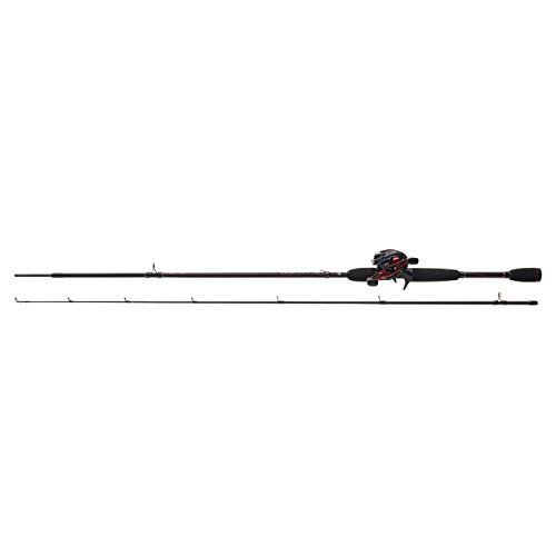 ABU GARCIA BLACK MAX SPINNING COMBO 2PC FISHING ROD+LOW PROFILE BAITCASTING REEL Test