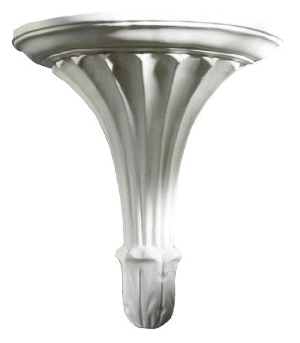 Wandkonsole Art Deco, 26 cm weißer Alabastergips
