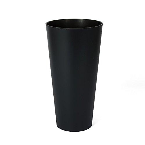 Vaso per piante serie TUBUS slime con inserto Ø 250 colore: antracite opaco