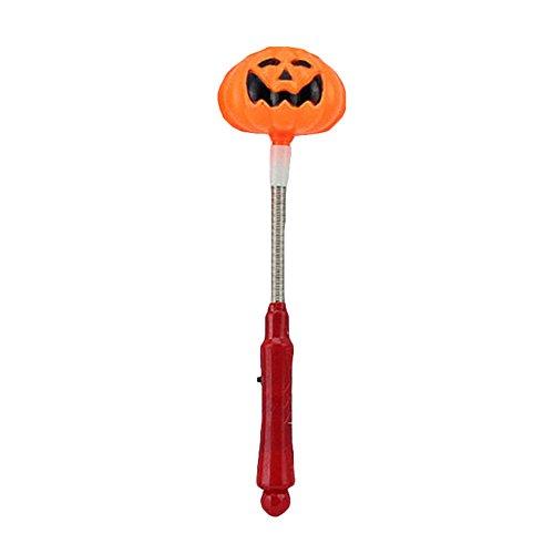 ty Funny Halloween Pumpkin Skull Head Spring Blinkende Zauberstab LED Glow Stick Kinder Geschenk-zufällige Stil, Random Style, Einheitsgröße ()