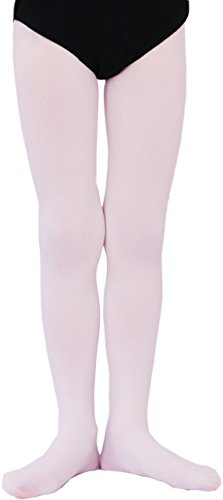 Weiche Kinder Mädchen Ballett Strumpfhose 3D Microfaser 50DEN 001 (116-128, Rosa)