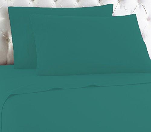 Easy Care Luxus 200 Fadenzahl Polycotton gefärbt Spannbettlaken alle Größe, Polybaumwolle, blaugrün, King Fitted Sheet (160 x 200 x 23 cm)