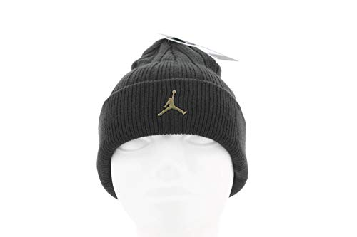 Nike Jordan Gorro, Unisex Adulto, Black/Metallic Silver