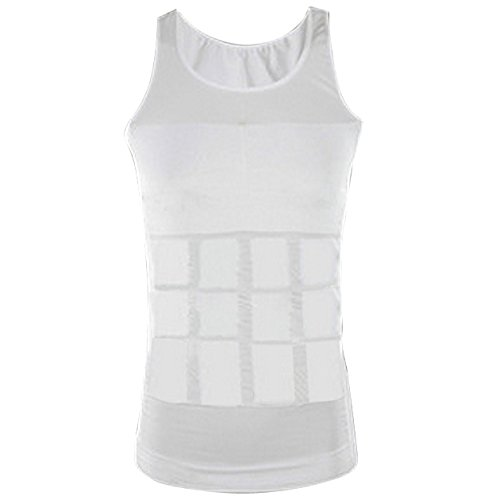 white-super-stretchy-tummy-belly-control-slimming-body-shaper-vest-undershirt-magic-compression-figu