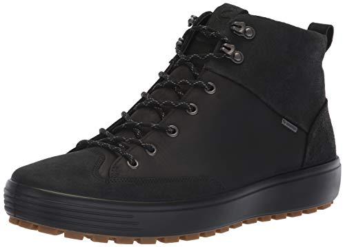ECCO Herren Mens Soft 7 TRED GTX High Hohe Sneaker, Schwarz Black 51052, 46 EU