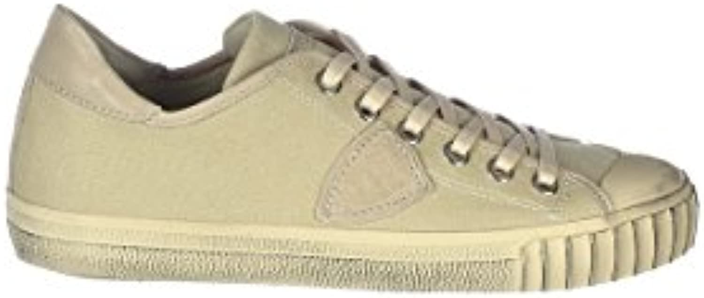 Philippe Model Herren GRLUCB05 Beige Baumwolle Sneakers