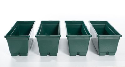Jardinière NJ 40 cm Vert sapin (lot de 4 unités)