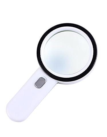 Home Vergrößerungsglas High-Definition-Optik mit Lampenlesung 30-mal die große Doppel-Objektiv 100MM antiken Hand-Geschenk-Box Lupe Qualität ++++
