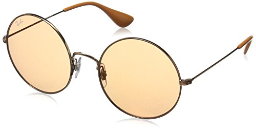 Ray-Ban Damen Sonnenbrille Rb 3592 Shiny Copper/Orangemirrorred, 55