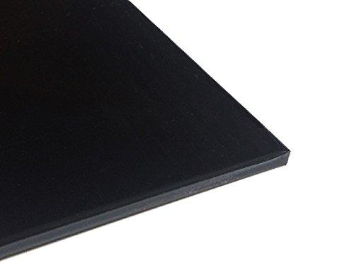 Preisvergleich Produktbild Kunststoffplatte ABS 5mm Schwarz 500 x 300 mm