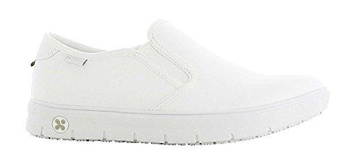 Oxypas Neu Fashion Berufsschuh komfortabeler Sneaker Nadine aus Leder antistatisch (ESD) in vielen Farben (38, weiß)