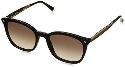 Max Mara Women's mm Needle III J6 06K Sunglasses, Blkgldcopper/Brown Sf, 52