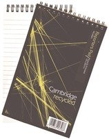 Cambridge recycled feint ruled spiral bound shorthand notebook, 80 sheets per pad, PACK of 10