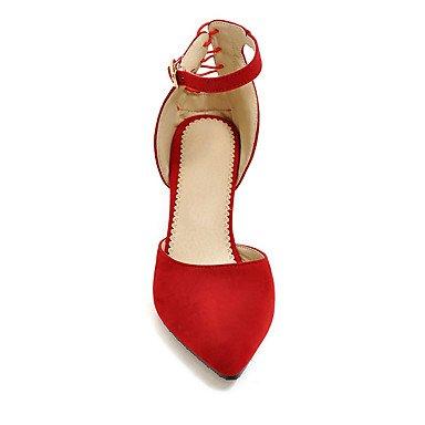 LvYuan Da donna-Sandali-Matrimonio Formale Serata e festa-Club Shoes-A stiletto-Felpato-Nero Blu Rosso Grigio gray