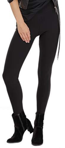 BeLady Legging Femmes Thermo à l'intérieur Avec Polaire Douce et Chaude, Noir Bleu marine Graphite Jeans (Noir, XL - 42)